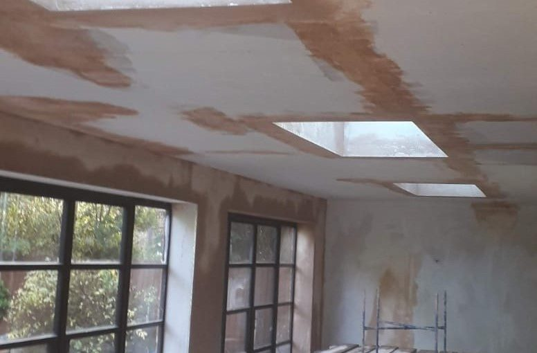 Plasterboard Dot and Dab Finish to Walls